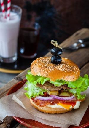 Burger: ungesunde und fettreich